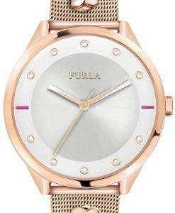 フルラ ピン R4253102525 水晶ダイヤモンド アクセント レディース腕時計