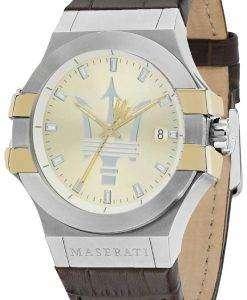 マセラティ ポテンザ R8851108017 アナログ クオーツ メンズ腕時計