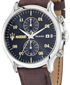 マセラティ刊行物に掲載 R8871618001 クロノグラフ クォーツ メンズ腕時計
