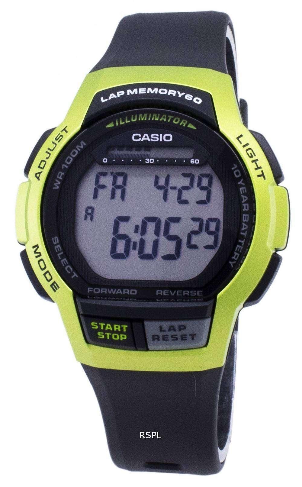 カシオ青年 WS 1000 H 3AV WS1000H 3AV 照明デジタル メンズ腕時計