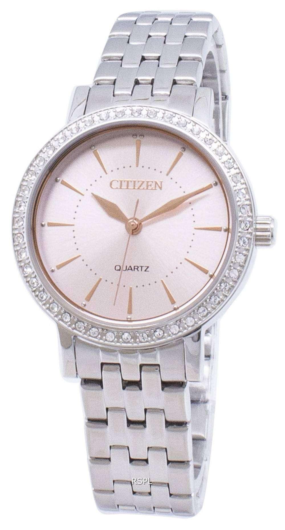 市民石英 EL3041 87 X アナログ ダイヤモンド アクセント レディース腕時計