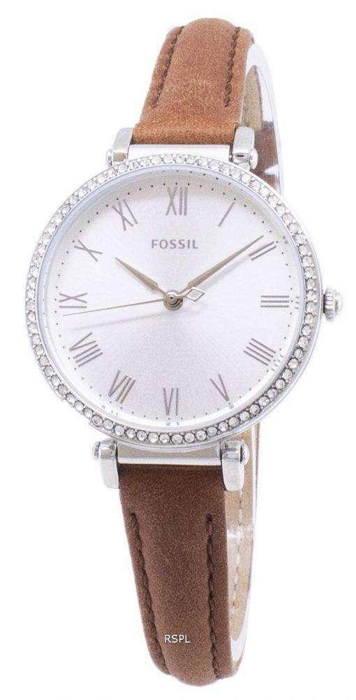 化石キンゼイ ES4446 ダイヤモンド アクセント クォーツ レディース腕時計