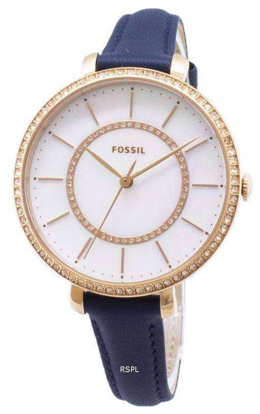 化石ジョスリン ES4456 ダイヤモンド アクセント クォーツ レディース腕時計