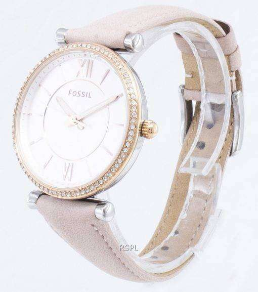 化石 Carlie ES4484 ダイヤモンド アクセント クォーツ レディース腕時計