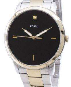 化石のシンプルな FS5458 石英アナログ メンズ腕時計