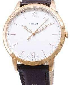 化石のシンプルな FS5463 石英アナログ メンズ腕時計