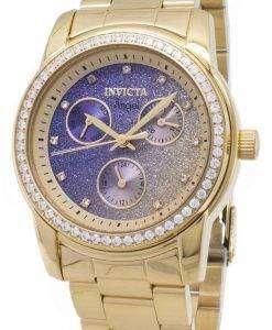 インビクタ天使 23822 クロノグラフ ダイヤモンド アクセント レディース腕時計