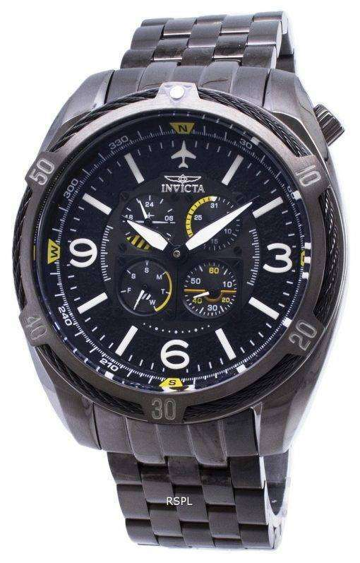 インビクタ アビエイター 28086 クロノグラフ クォーツ メンズ腕時計