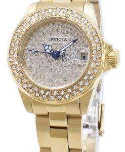 インビクタ天使 28456 ダイヤモンド アクセント アナログ クオーツ レディース腕時計