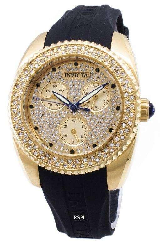 インビクタ天使 28485 ダイヤモンド アクセント アナログ クオーツ レディース腕時計