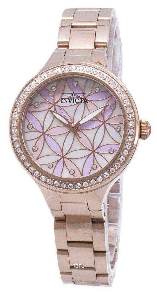 インビクタ ワイルドフラワー 28824 ダイヤモンド アクセント アナログ クオーツ レディース腕時計