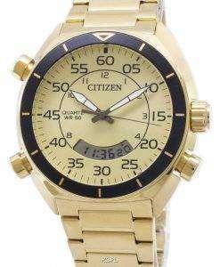 市民多機能クロノグラフ JM5472-52 P 石英アナログ デジタル メンズ腕時計