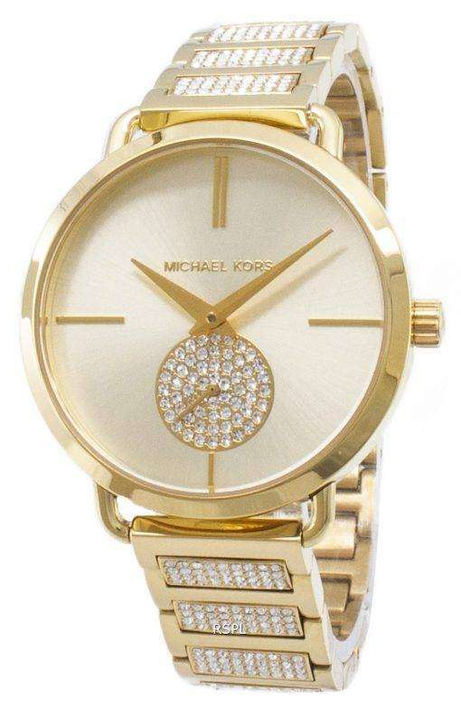 ミハエル Kors ポーシャ MK3852 石英アナログ女性の腕時計