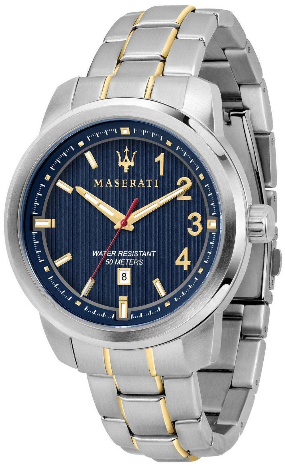 マセラティ ・ ロイヤル R8853137001 石英アナログ メンズ腕時計