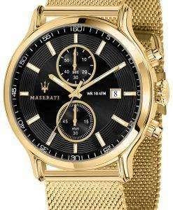 マセラティ刊行物に掲載 R8873618007 クロノグラフ クォーツ メンズ腕時計