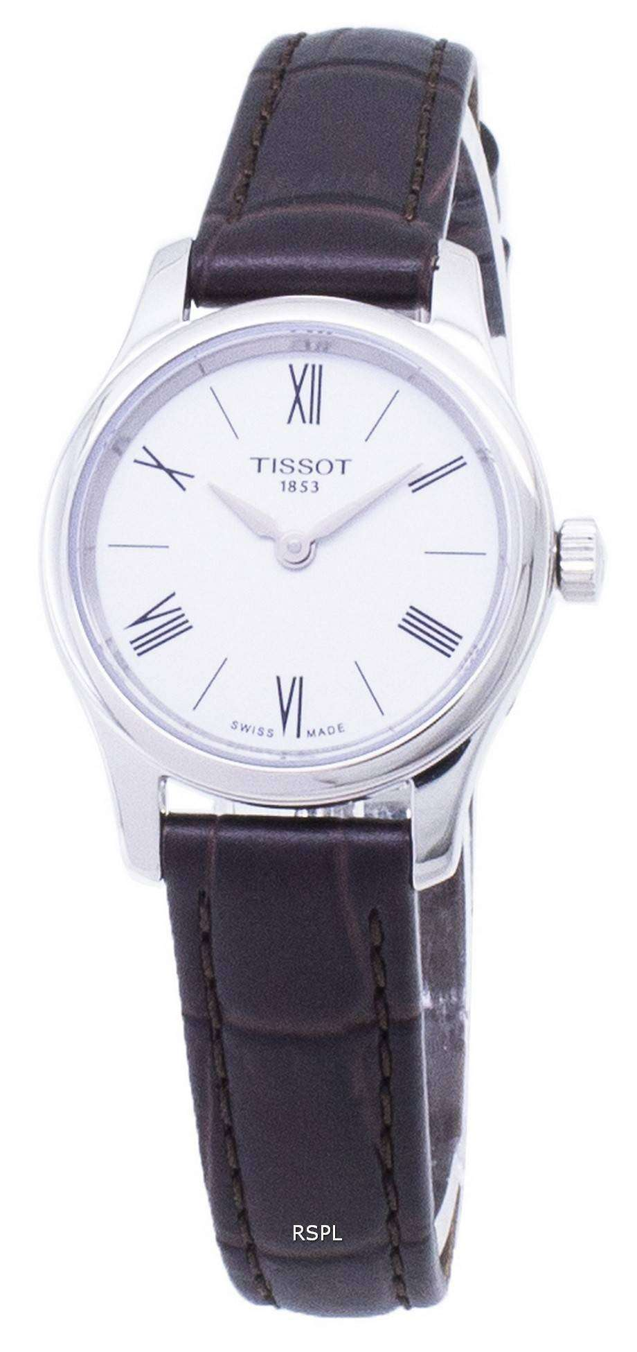 ティソ T-古典的な伝統 5.5 T063.009.16.018.00 T0630091601800 クオーツ レディース腕時計