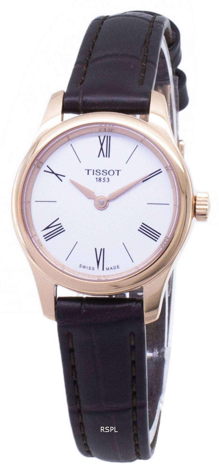 ティソ T-古典的な伝統 5.5 T063.009.36.018.00 T0630093601800 クオーツ レディース腕時計