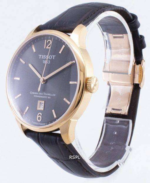 ティソ T-クラシック Powermatic 80 T 099.407.36.447.00 T0994073644700 自動メンズ腕時計
