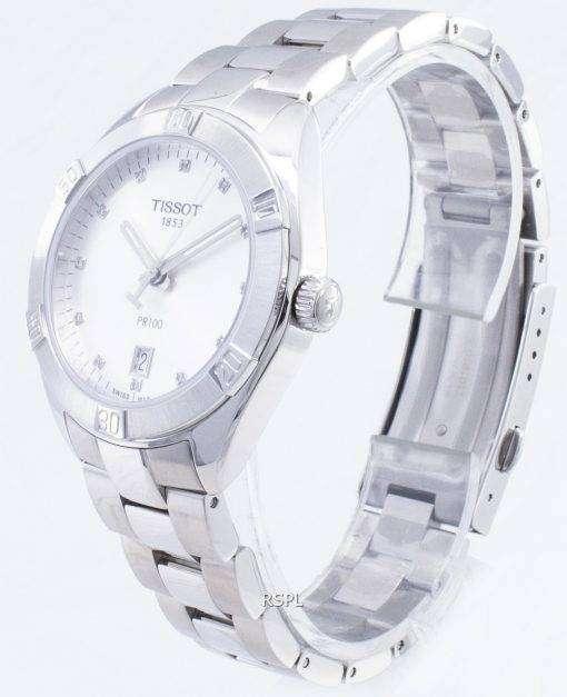 ティソ T-クラシック PR 100 スポーツ T 101.910.11.036.00 T1019101103600 ダイヤモンドアクセントクォーツレディース腕時計
