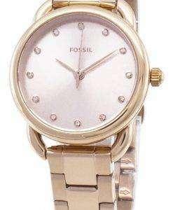 化石のテーラーの小型 ES4497 の水晶アナログの女性の腕時計