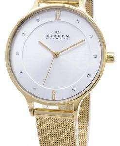 スカーゲン アニタ ゴールド トーン メッシュ ブレスレット結晶 SKW2150 レディース腕時計