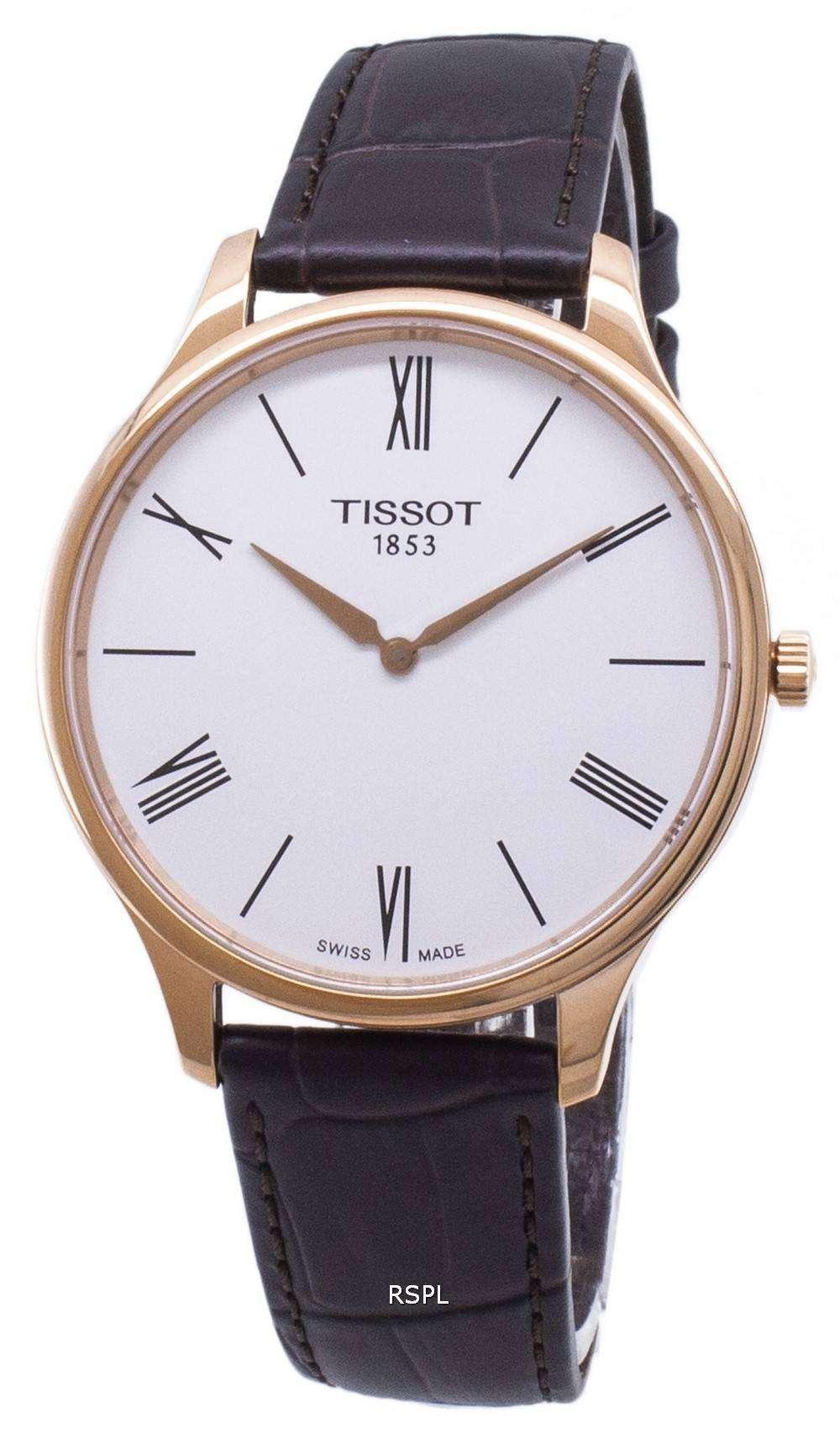 ティソ T-クラシックの伝統 5.5 T 063.409.36.018.00 T0634093601800 クォーツアナログメンズ腕時計