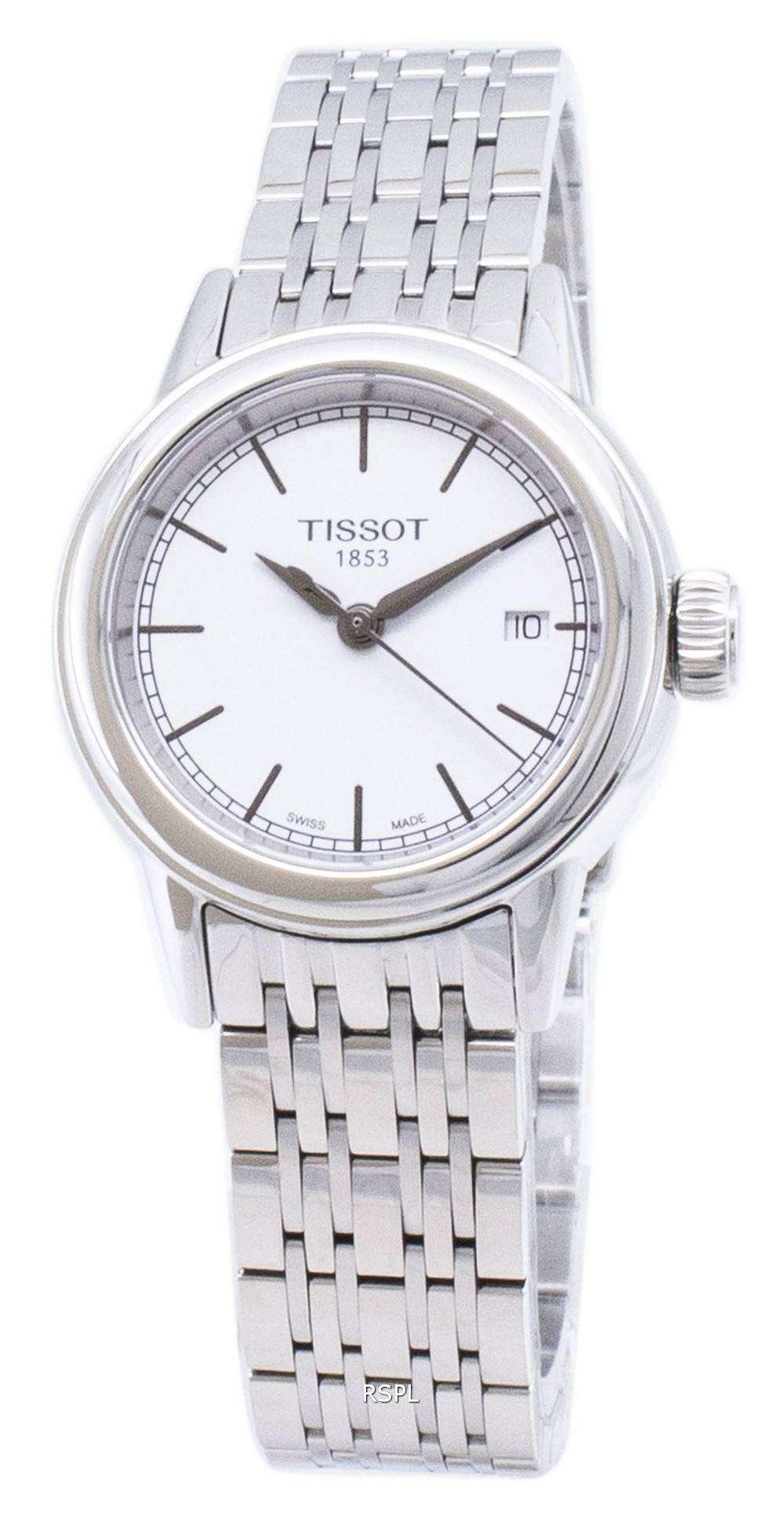 ティソ T-クラシックカーソン T 085.210.11.011.00 T0852101101100 クォーツアナログレディースウォッチ