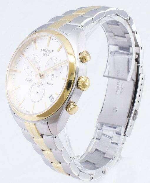 ティソ T-クラシック PR 100 T 101.417.22.031.00 T1014172203100 クロノグラフクォーツメンズ腕時計