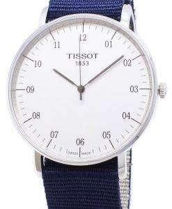 ティソ T-クラシック毎回大 Nato の T 109.610.17.037.00 T1096101703700 クォーツアナログメンズ腕時計