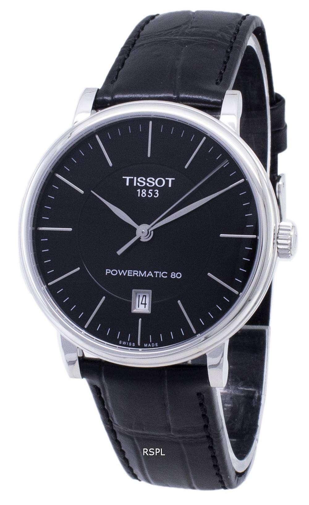 ティソ T-クラシックカーソン T 122.407.16.051.00 T1224071605100 Powermatic 80 メンズ腕時計
