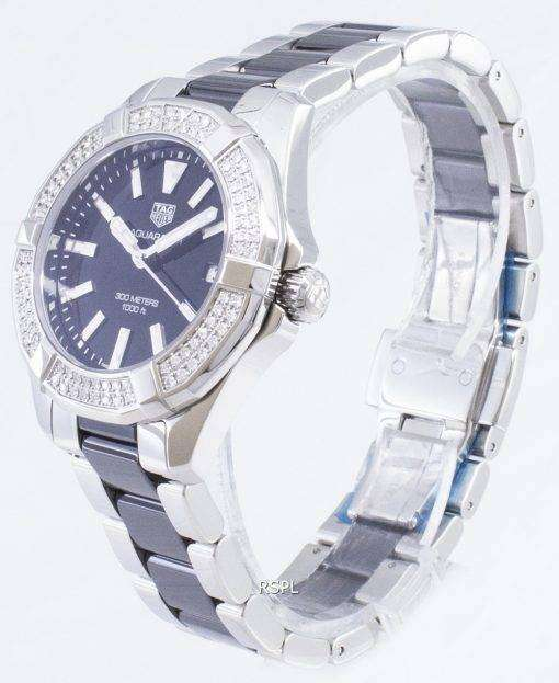 タグ・ホイヤーアクアレーサー WAY131E。BA0913 ダイヤモンドアクセントクォーツ300M レディース腕時計