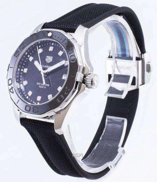 タグ・ホイヤーアクアレーサー WAY131M。FT6092 ダイヤモンドアクセントクォーツ300M レディース腕時計