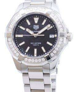 タグ・ホイヤーアクアレーサー WAY131P。BA0748 ダイヤモンドアクセントクォーツ300M レディース腕時計