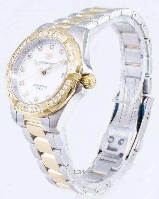 タグ・ホイヤーアクアレーサー WBD1323。BB0320 ダイヤモンドアクセントクォーツ300M レディース腕時計