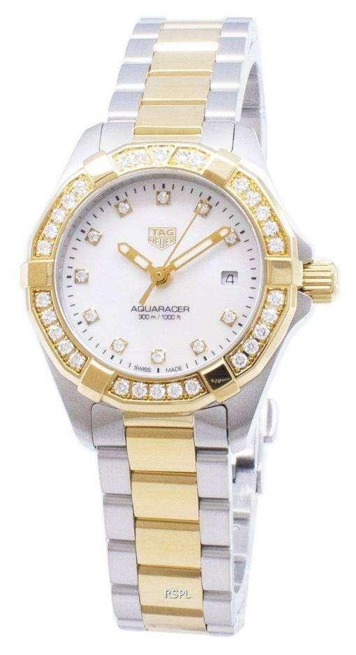 タグ・ホイヤーアクアレーサー WBD1423。BB0321 ダイヤモンドアクセントクォーツ300M レディース腕時計