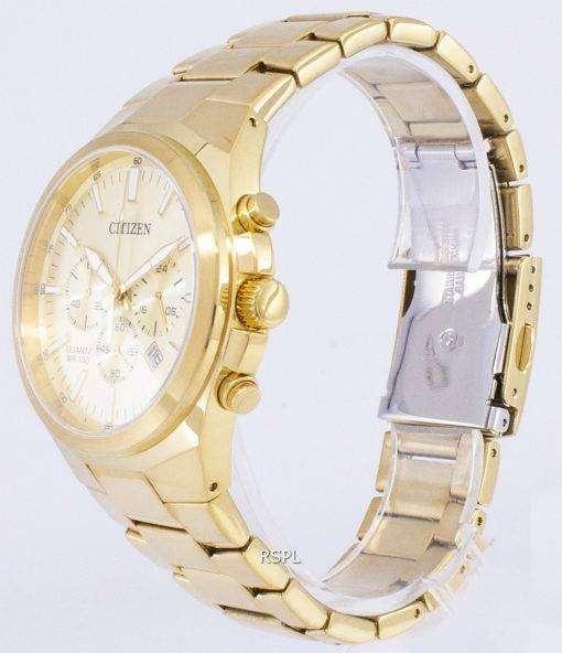 市民アナログ クロノグラフ クォーツ AN8172-53 P メンズ腕時計