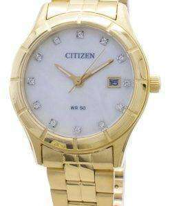 シチズンクォーツEU6042-57Dダイヤモンドアクセントレディース腕時計