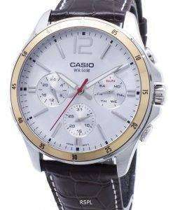 カシオ Enticer MTP-1374L-7AV MTP1374L-7AV クロノグラフアナログメンズ腕時計