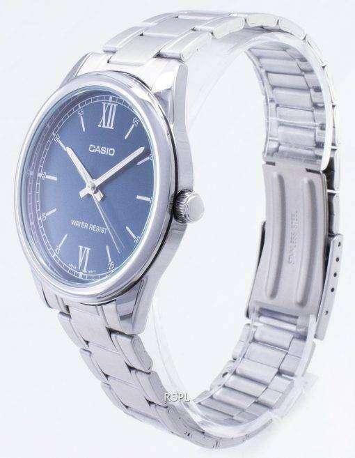 カシオタイムピース MTP-V005D-2B1 MTPV005D-2B1 クォーツアナログメンズ腕時計