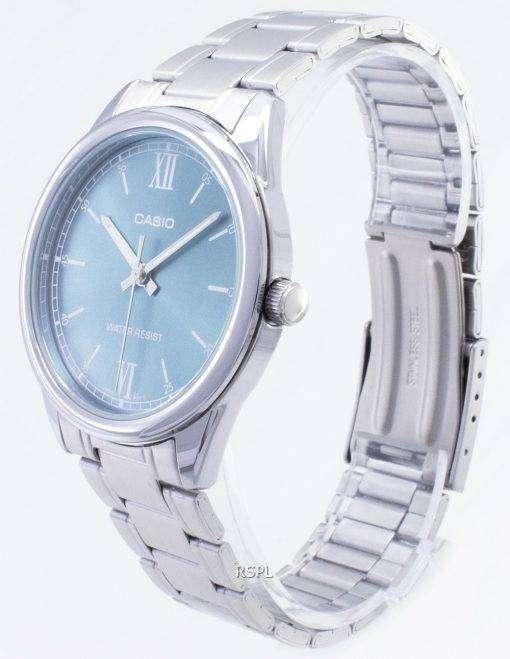 カシオタイムピース MTP-V005D-3B MTPV005D クォーツアナログメンズ腕時計