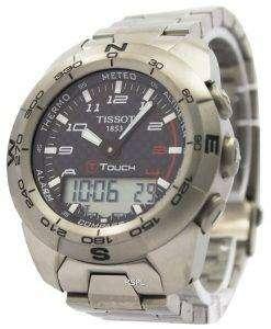 ティソの T タッチ エキスパート チタン T013.420.44.202.00 コンパス時計腕時計
