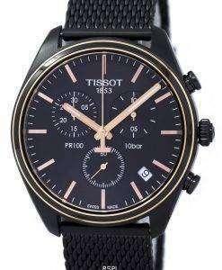 ティソ T-古典的な PR 100 クロノグラフ T101.417.23.061.00 T1014172306100 メンズ腕時計