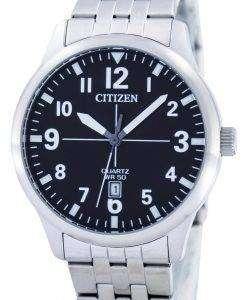 市民クオーツ ブラック ダイヤル BI1050 81F メンズ腕時計