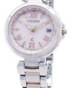 Citizen xCエコドライブEC1034-59Wラジコンウィメンズウォッチ