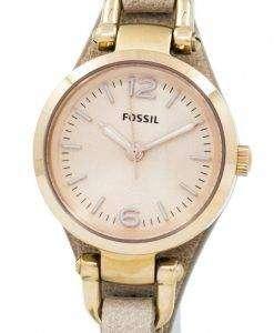 化石グルジア ミニ ローズ ダイヤル砂革ストラップ ES3262 レディース腕時計