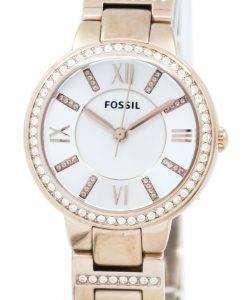 化石バージニア 3 手クリスタル ゴールド トーン ES3284 レディース腕時計