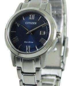 市民エコドライブ ブルー ダイヤル FE1081-59 L レディース腕時計