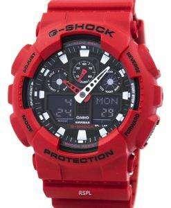 カシオ G-ショックの GA-100 b-4 a アナログ デジタル メンズ腕時計