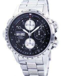 ハミルトン カーキ x-ウィンド オートマティック クロノグラフ H77616133 メンズ腕時計