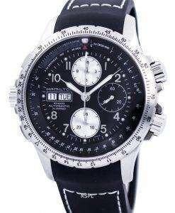 ハミルトン カーキ x-ウィンド オートマティック クロノグラフ H77616333 メンズ腕時計